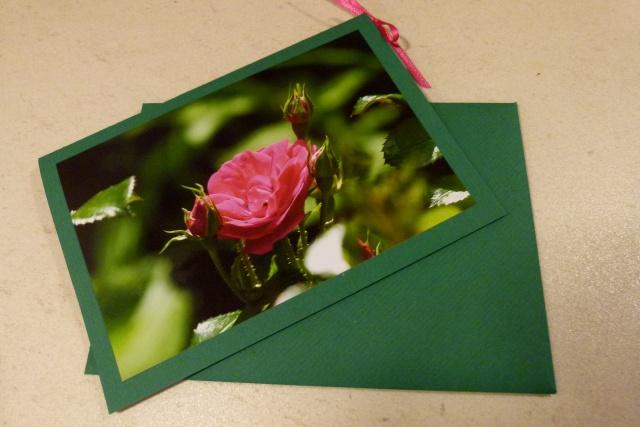 Glückwunschkarte mit passendem Kuvert