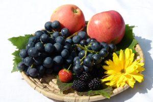 Äpfel, Trauben,Brombeeren und die letzte Erdbeere