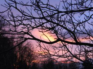 Sonnenuntergang nach einem schönen Sonnentag