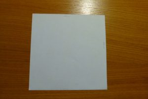 Quadratisches Stück Papier