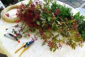 Für den Türkranz findet man die meisten Zutaten in der Natur