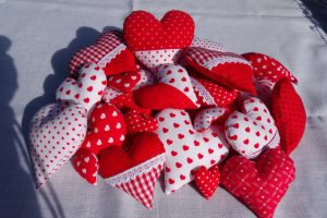 Decoration with hearts inside and outside