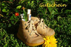Gutschein für Schuhe