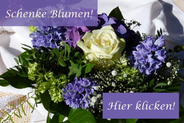 Einen Blumenstrauß zum Geburtstag schenken!